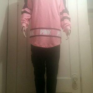 Pink vs Longsleeve & Leggings, L